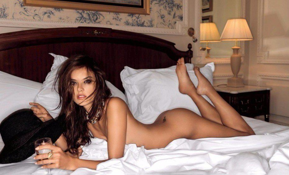 Alessandra Ambrosio Nude In The Bed
