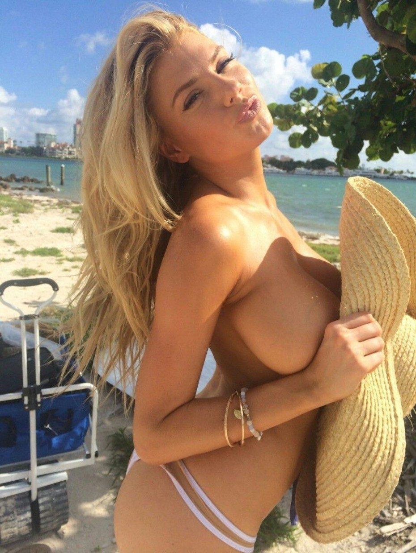 Charlotte McKinney Topless Big Boobs Sexy Pics