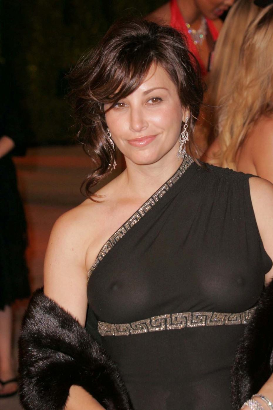 Gina Gershon Nude Boobs Under Dress