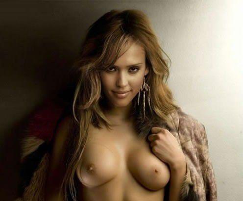 Jessica Alba Nude Tits