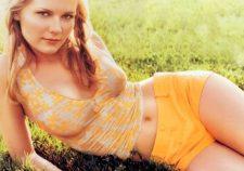 Kirsten Dunst Nude Tits Under Wet Shirt