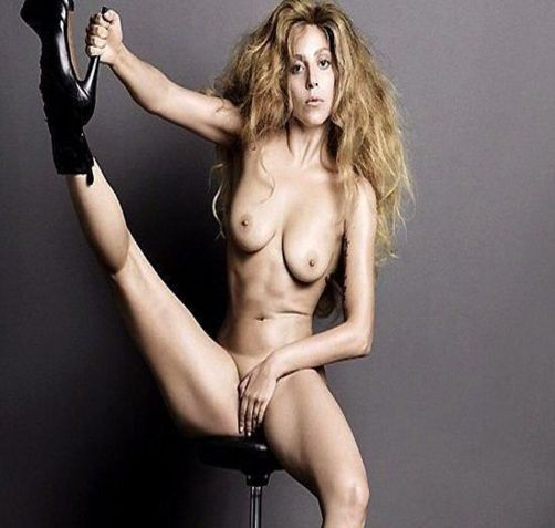 Lady Gaga Nude Posing Topless For Magazine