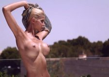 Micaela Schaefer Posing Topless Naked Boobs
