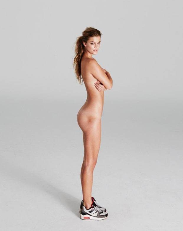 Nina Agdal Completely Nude Posing