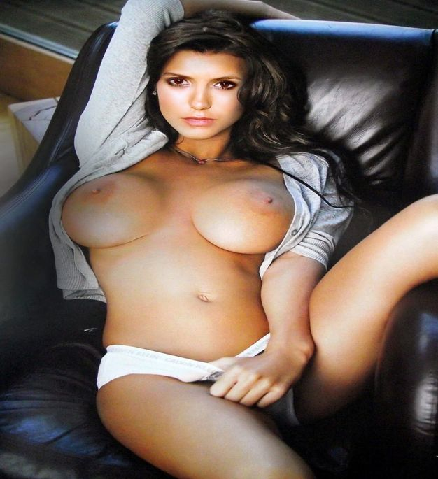 Nina Dobrev Nude Topless Photo