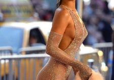 Rihanna Nude See Through Dress