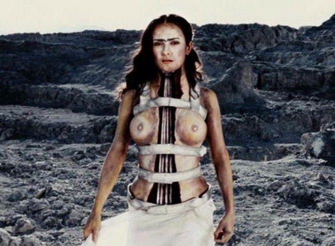 Salma Hayek Naked Topless Big Tits