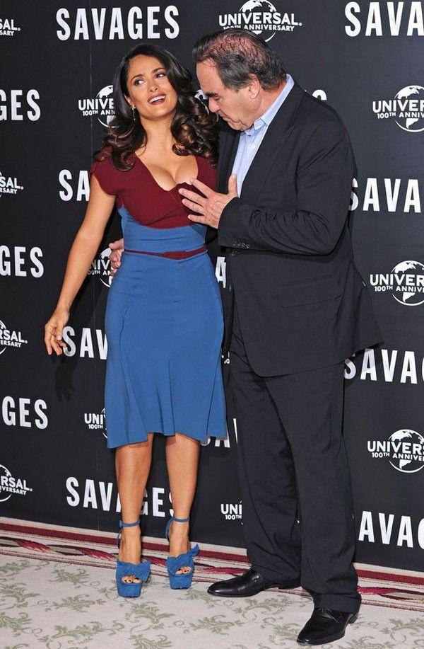 Salma Hayek Sexy Clevage Big Tits
