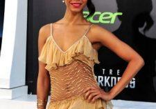 Zoe Saldana Sexy Hot Top Dress Naked Wallpapers