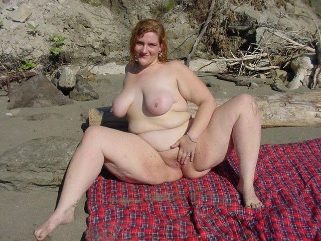 Bbw on nude beach