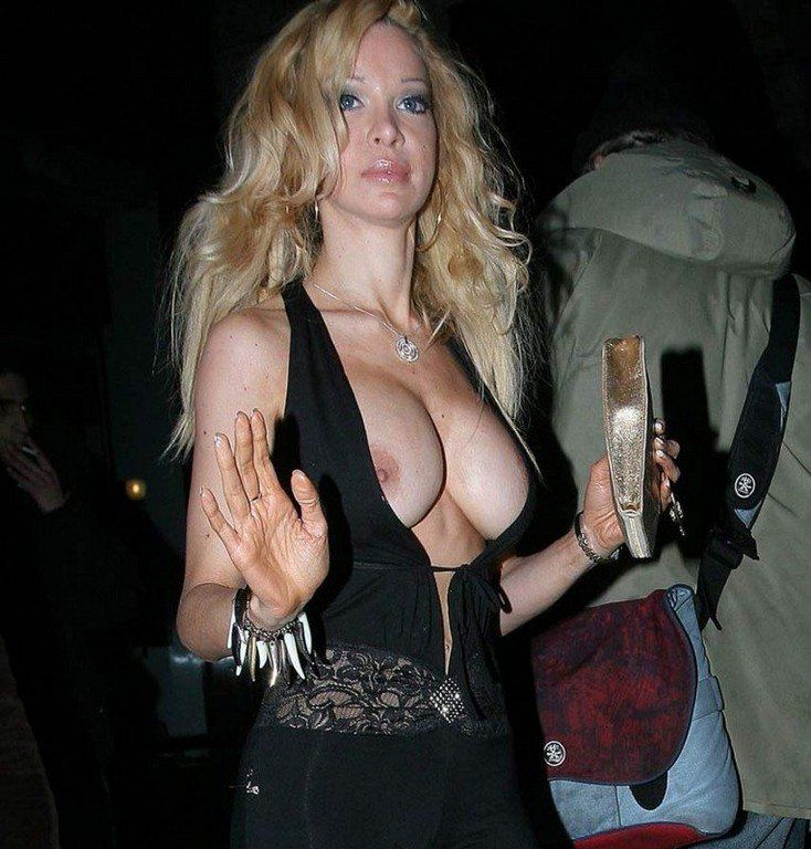 Celebrities flashing tits