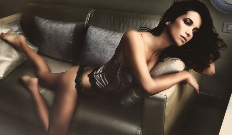 Erotic Lingerie On Sexy Brunette Teen