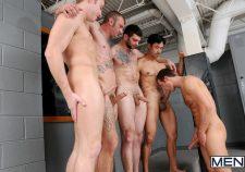 Gay Locker Room Orgy