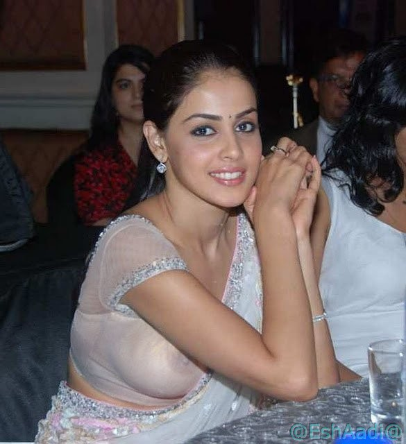 Genelia White Saree