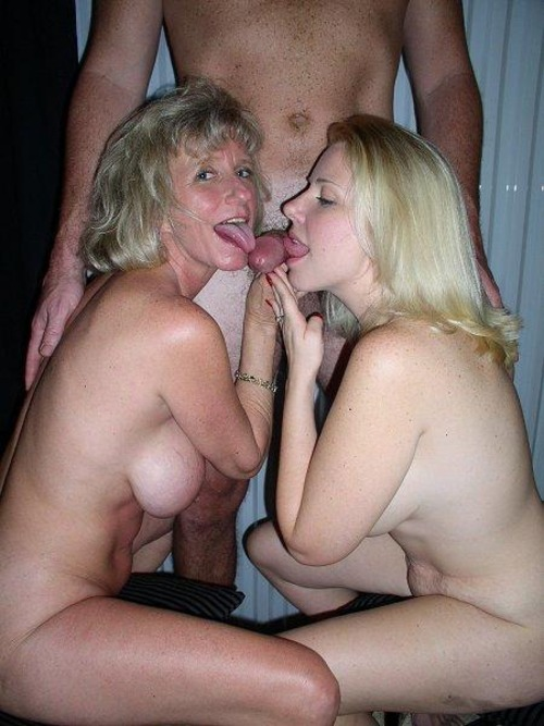 Mom And Daughter Sucking Dad Off