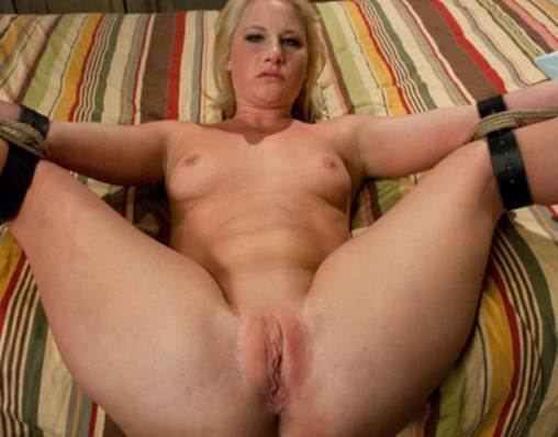 Naked Bound Horny Nude Blonde Jill In Eager To Fuck