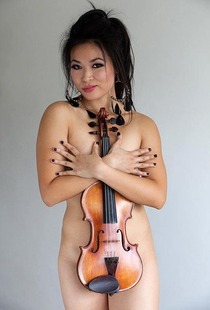 Sexy Violinist Analiza Ching Nude