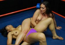 Topless Female Wrestling Match