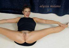 Alyssa Milano Pussy Legs Spread Gif