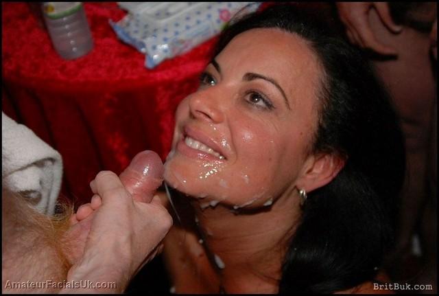 Amateur Cum Facial Bukkake Party