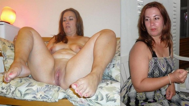 Right! Dressed undressed mature nude before and after