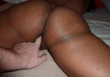 Big Ebony Ass Fingering Pussy