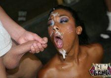 Black Girl Gangbang Cum