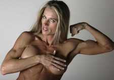 Blonde Muscle Milf Showing Her Titties
