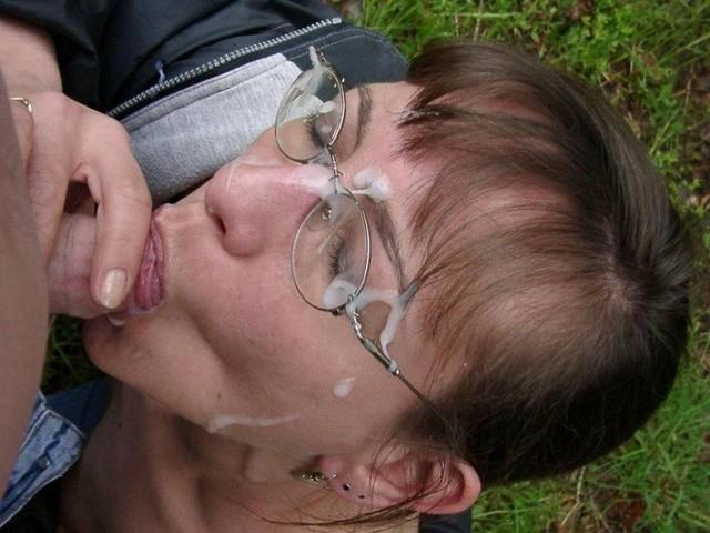 Cum On Glasses Mature