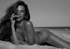 Alessandra Ambrosio Posing Completely Nude Topless On The Beach