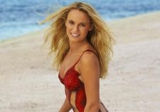 Caroline Wozniacki Body Paint Sports Illustrated