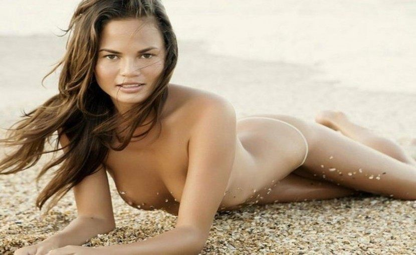 Chrissy Teigen Nude On The Beach