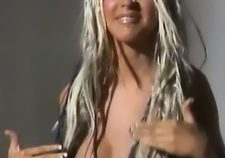 Christina Aguilera Naked Topless