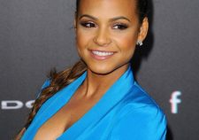 Christina Milian Nude Boobs And Hard Nipples Under Blue Blouse