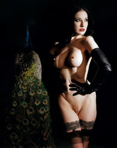 Dita Von Teese Nude Tits Sexy Pussy