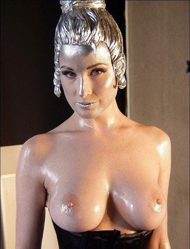 Dita Von Teese Nude Topless Oiled Tits