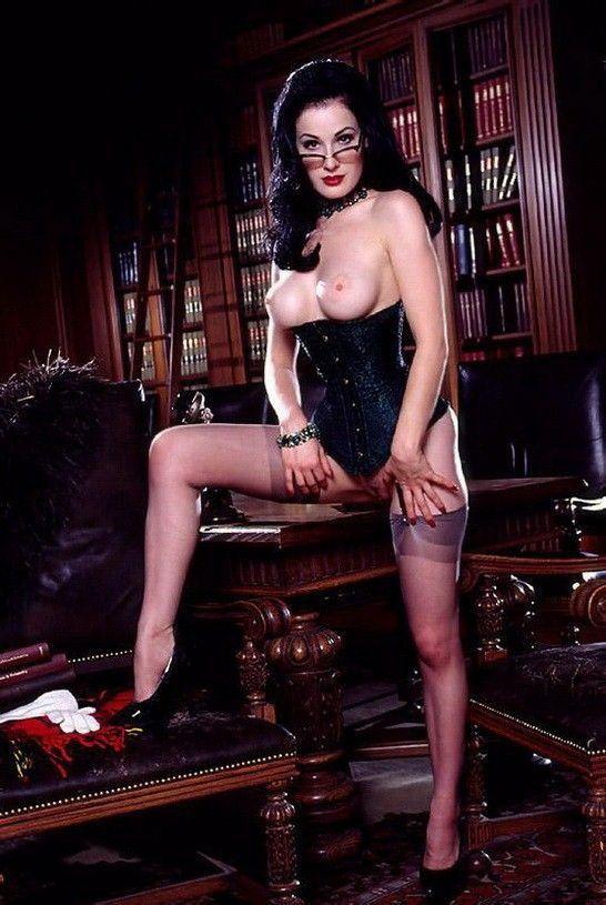 Dita Von Teese Nude Topless Stockings Photos