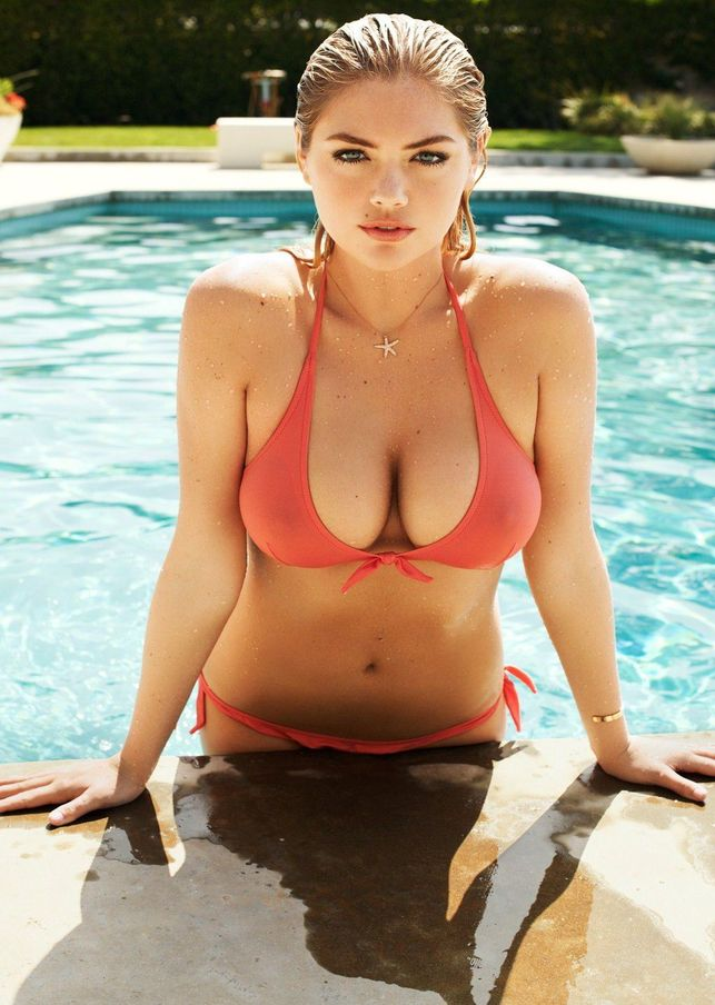 Kate Upton Sexy Seethru Top Big Tits