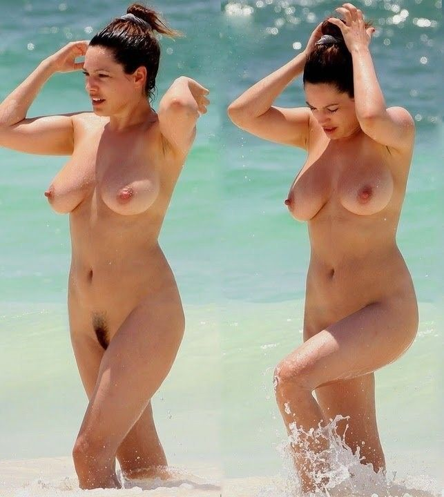 Kelly Brook Totally Naked Geting Out Of The Water
