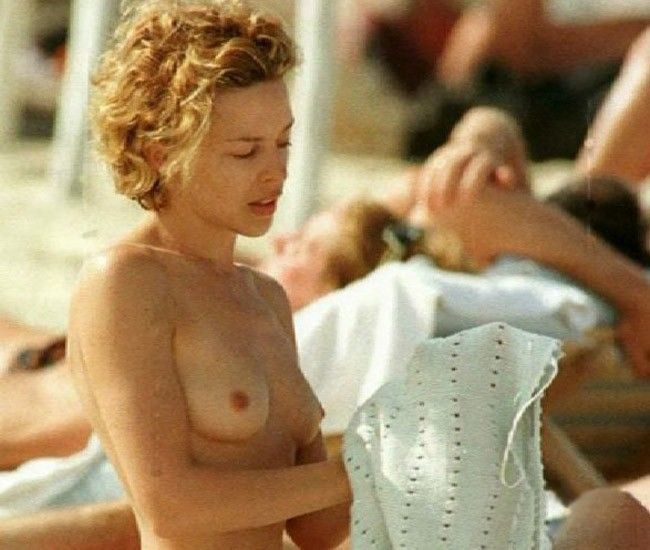 Kylie Minogue Nude Tits On The Beach