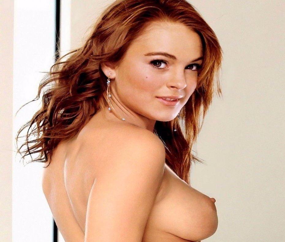 Lindsay Lohan Busty Sexy Nude Boobs