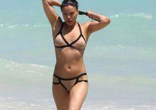 Michelle Rodriguez Nipples Bikini Miami