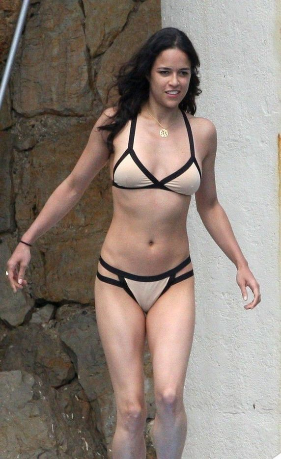 Michelle Rodriguez Nude See Through Bikini