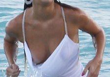 Nina Agdal Nude Tits Slips