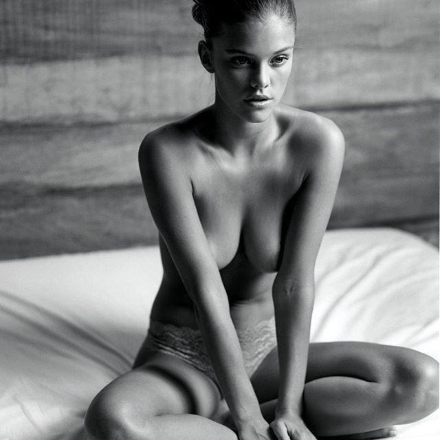 Nina Agdal Nude Topless Sexy Panties