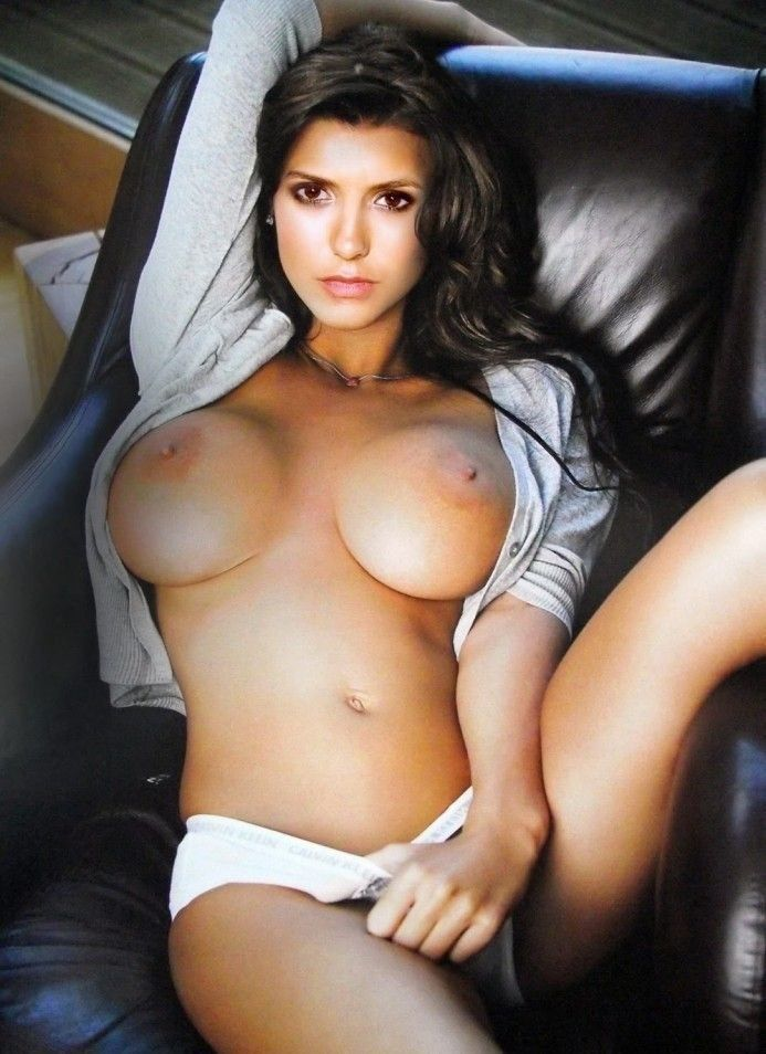 Nina Dobrev Nude Boobs Showing