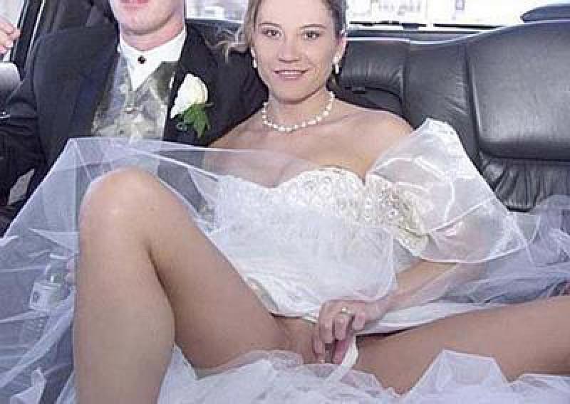 Real Brides Flashing Pussy