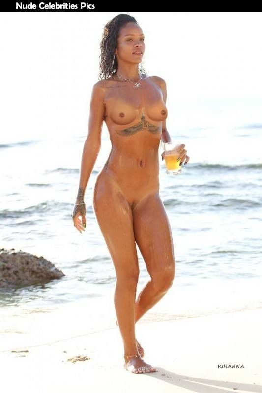 Rihanna Nude On Beach Hd Photos
