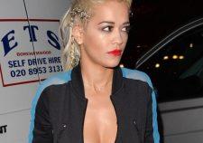 Rita Ora Hot Cleveage Topless Nipples