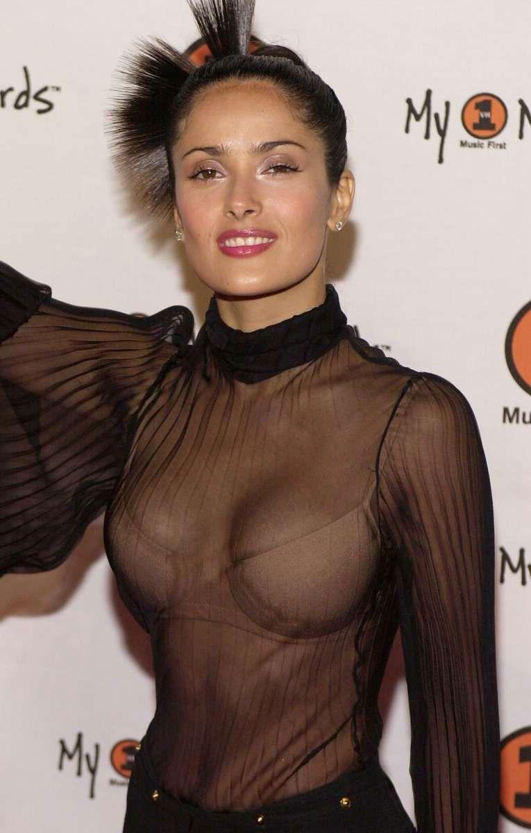 Salma Hayek Topless Transparent Photo